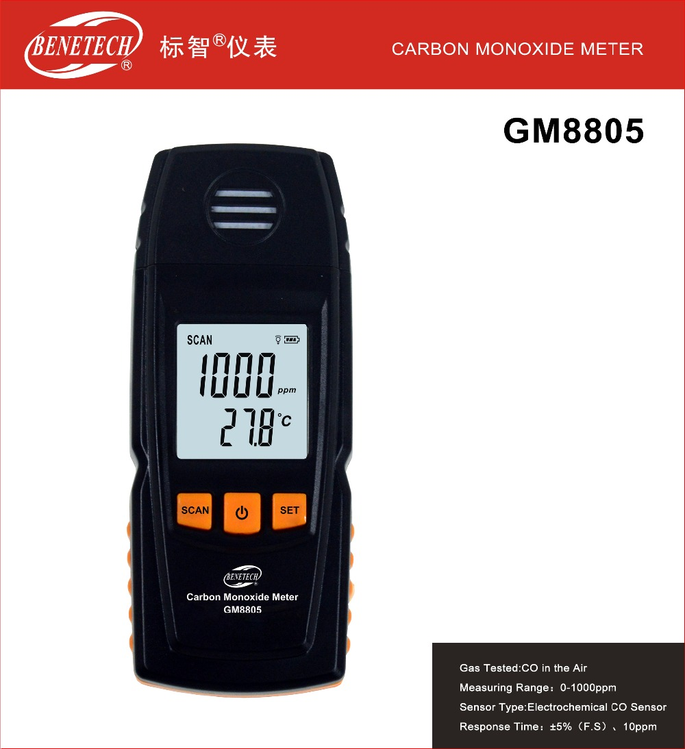 GM8805 Gas Analyzer Carbon Monoxide Meter Handheld Portable CO Detector Precision Meter Gas Tester Good Quality