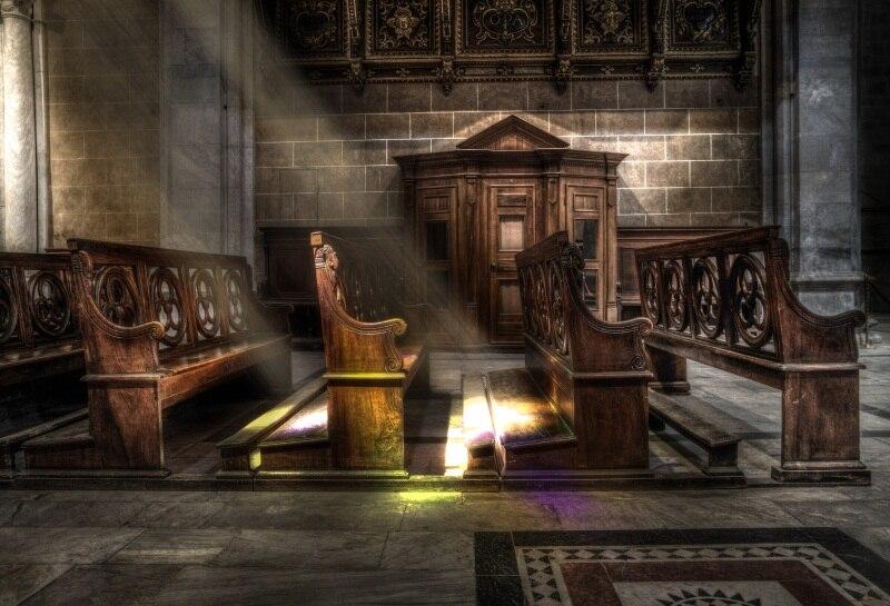 Laeacco церкви деревянная скамья интерьерная портретная сцены фотографического Фоны Индивидуальные фотографии фонов для фотостудии