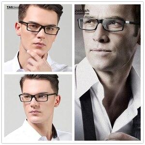 Image 2 - Hezekiah monture de lunettes Vintage pour hommes et femmes, 2019 étiquette de styliste, monture dordinateur rétro, métal, myopie, nerd 0512