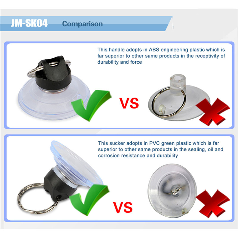 JAKEMY JM SK04 3Pcs Heavy Duty Suction Cup with Metal Key Ring Disassemble for iPhone Mobile Phone Tablet Opening Repair Tools in Hand Tool Sets from Tools