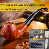 NewBee High Quality Cheap Price Imported Briar Wood Smoking Pipe Handmade Filter Bent Pipes With 10