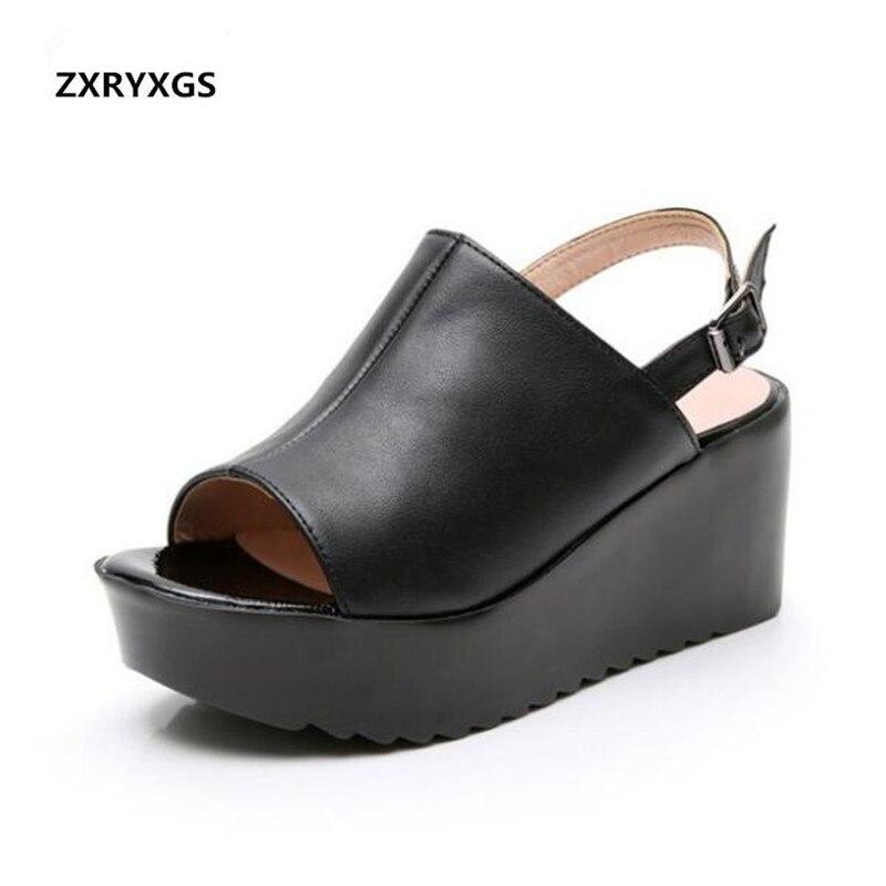 Light Platform Shoes Women Shoes High Heel Sandals 2019 New Summer Women Sandals Comfortable Wedges Wear