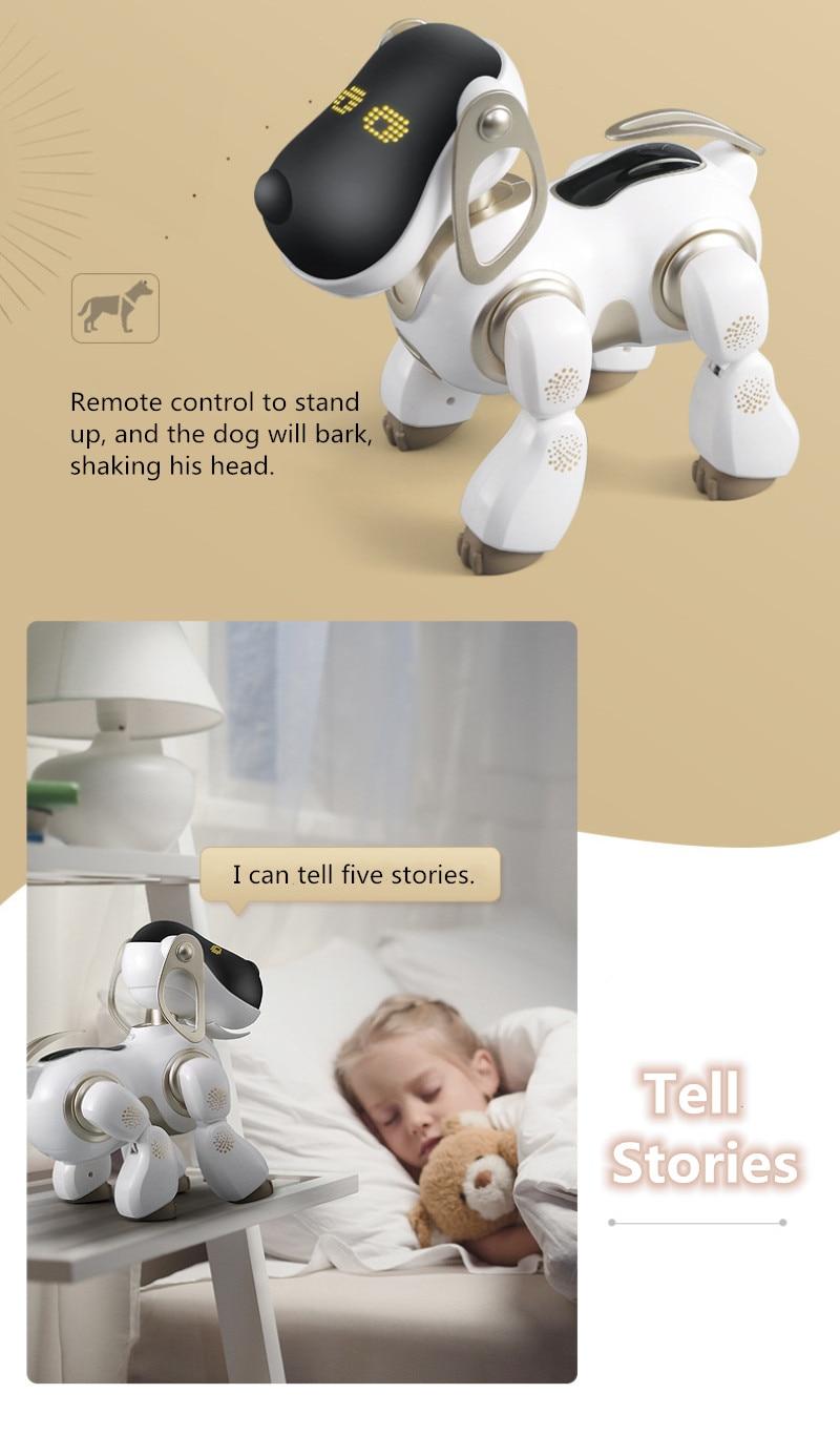 remoto rc robô cão animal estimação simulação
