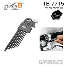 Super B TB-7715 Bike bicycle repair tools Allen wrench TAIWAN Brand  L-Set W/Ball 6PCS set 2 2.5 3 4 5 6 8mm hex