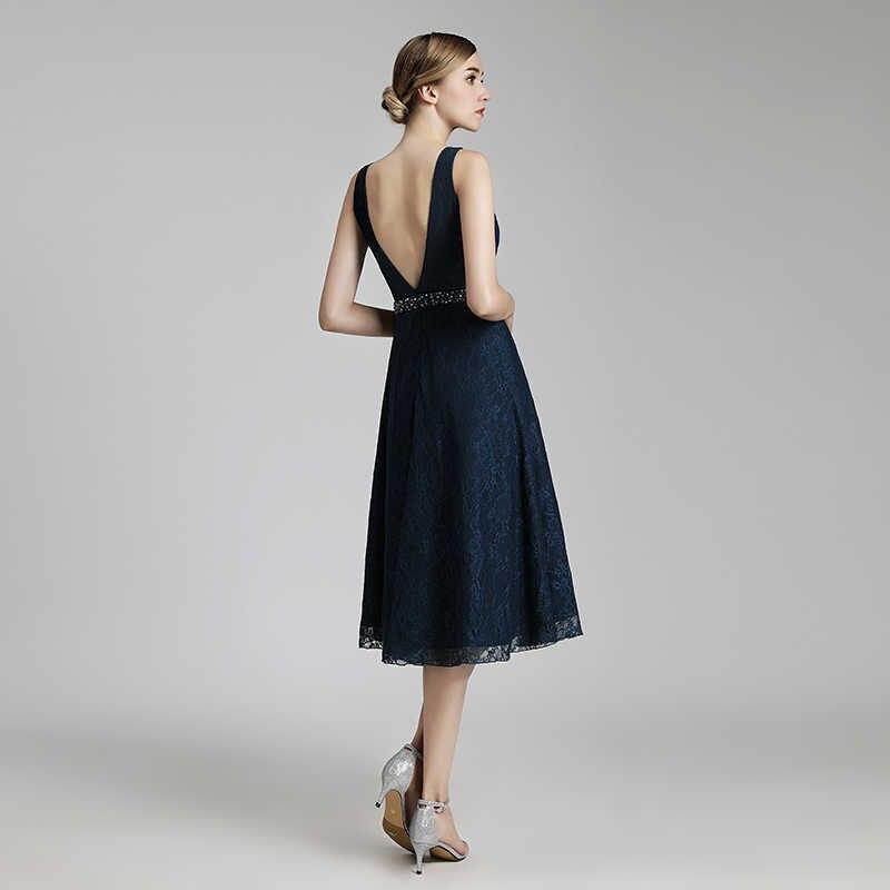e7c651b75244daf ... Простые короткие Вечерние платья вечернее Кружево v-образным вырезом  платье для выпускного вечера с Бисер ...