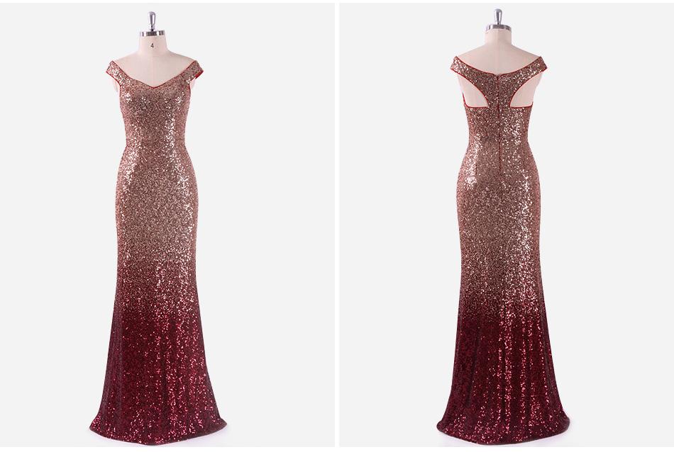 вечернее платье длинные искра постоянно довольно 2018 новый с V-образным вырезом для женщин элегантный ep08999 блесток русалка макси платье вечеринка