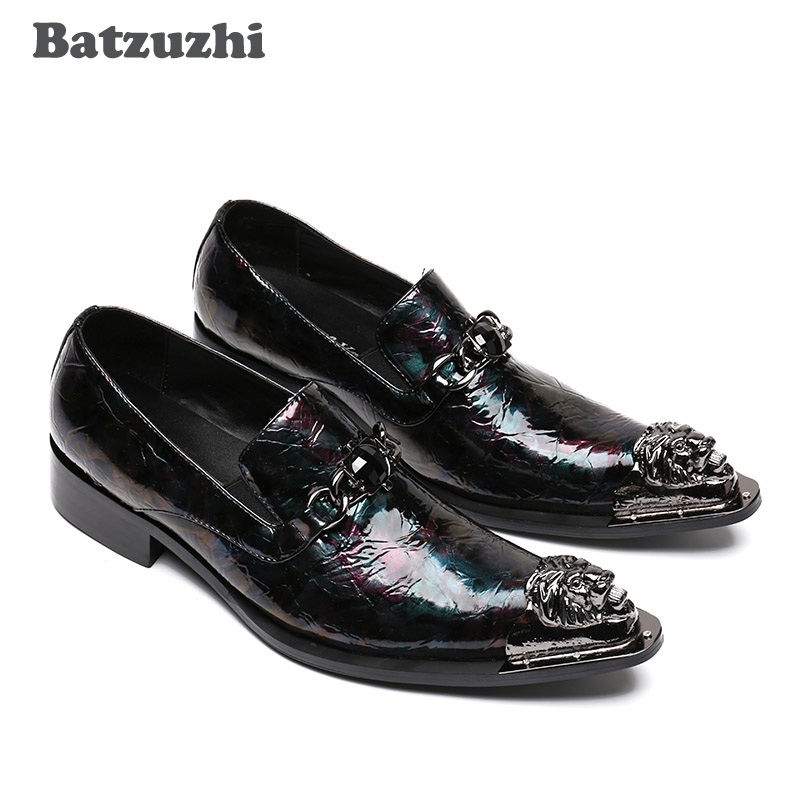 Style Model Personnalisé Pointu En 46 Batzuzhi 1 Italien Pour 2 sur D'affaires Cuir Slip Eu38 Hommes Robe model De Chaussures Hommes wxPTqP