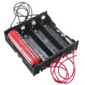 Wholesale Black ABS + Metal 4 Way 4 Slots 18650 Battery Storage Case Box Holder With 8 Wires Leads For 4x 18650 Battery Hot Sale