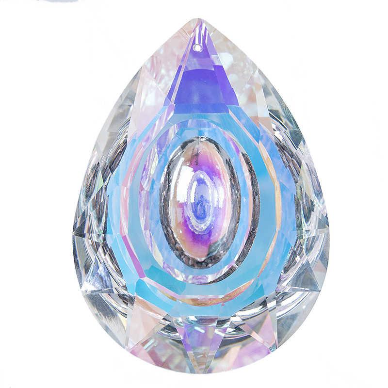 H & D подвесные призматические кристаллы, защита от солнца для окон, украшение 89 мм, AB-color, детали для люстры, DIY, аксессуары для домашнего декора, свадьбы