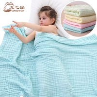 Baby Blanket Muslin Cotton 6 Layer Super Soft Newborn Baby Swaddling Sleeping Blankets Bedding Spring And