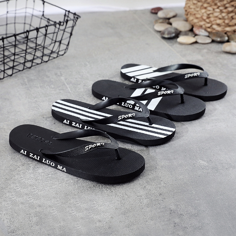 Summer Flip-flops Men's Personality Outdoor Beach Fashion Trend Korean Version Of Non-slip Summer Sandal Slippers Men