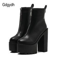 Gdgydh/2021; Модные осенние женские ботильоны; Черные кожаные
