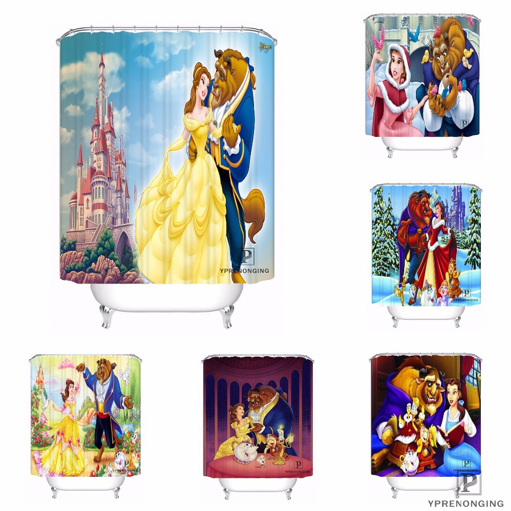 Detail Feedback Questions About Custom Beauty And The Beast Waterproof Shower Curtain Home Bath Bathroom S Hooks Polyester Fabric Multi Sizes180509 05 On