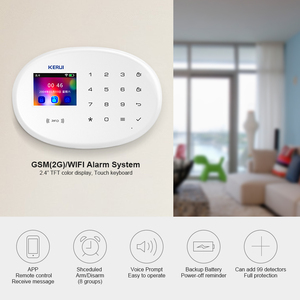 Image 3 - KERUI WIFI GSM W20 RFID Card Smart Home Security Alarm System 2.4 inch Touch Keyboard With Door Sensor Anti pet Motion Detector