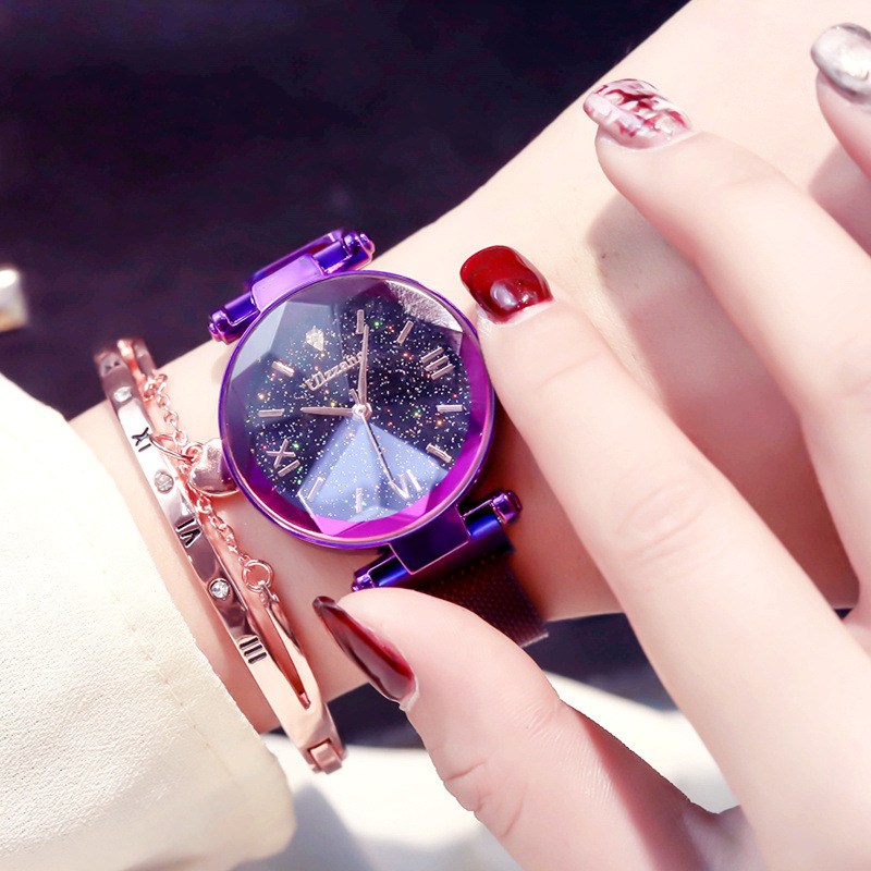New Hot Creative Starry Magnet Magnetic Force Band Women Exquisite Luxury Crystal Quartz Watches Ladies Dress Wristwatches WatchNew Hot Creative Starry Magnet Magnetic Force Band Women Exquisite Luxury Crystal Quartz Watches Ladies Dress Wristwatches Watch
