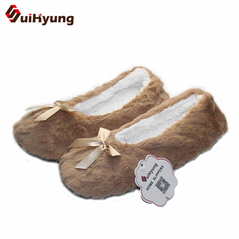 Suihyung women Winter Warm Soft Sole Plush Cotton-padded Shoes Coral Fleece Home Slippers Indoor Shoes Foot Warmer Floor Socks warm at home women slippers cotton shoes plush female floor shoes candy color soft bottom fleece indoor shoes woman home slippe