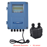 Professional Ultrasonic Flowmeter Wall mount TDS 100F Transducer DN15mm 6000mm LED Digital Ultrasonic Liquid Water Flow Meter|flow meter|ultrasonic flowmeter|water meter flow meters -