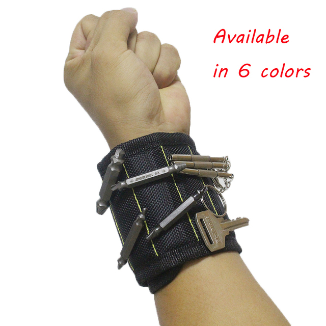 Polyester Super Strong Magnetic Wristband Portable Tool Bag Electrician Wrist Tool Belt Screws Nails Drill Bits A30
