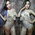 Высокое качество певица dj мода костюм ds висит ухо сверкающий бриллиант цельный комплект