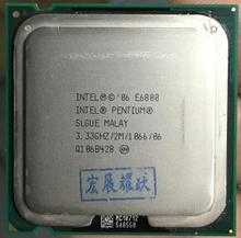 Бесплатная доставка Intel процессор Pentium E6800 Процессор/3,33 ГГц/LGA775/775pin/Dual CORE 2 Мб L2 Кэш/Dual CORE/65 Вт Процессор поштучно