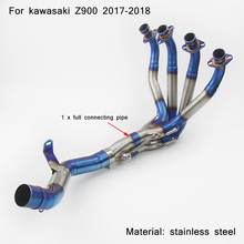 2017 2018 for kawasaki z900 Motorcycle Full Set Connecting Pipe With 51mm Tail Exhaust Muffle Silencer System