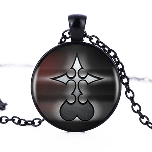 1pcslot Kingdom Hearts Nobody Logo Art Pendants Necklace Cabochon