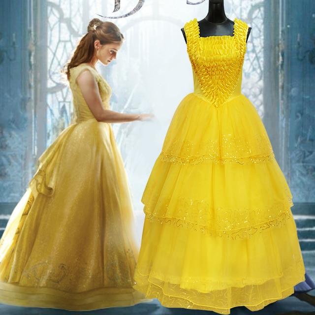 47e06783a558 Disfraces de belleza y la Bestia princesa bella vestidos para adultos  disfraz de Halloween para mujeres
