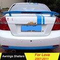 Для Chevrolet LOVA 2007 2008 2009 2010 2011 задний багажник автомобиля Спойлер ABS Материал грунтовка цвет автомобиля украшение в виде хвостового крыла для Lova