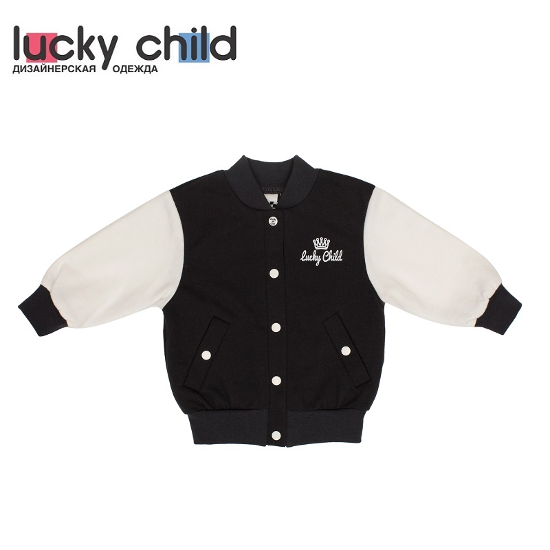 Фото - Sweater & Sweatshirts Lucky Child for boys 29-18Mf Kids Sweatshirt Baby clothing Children clothes Jersey Blouse Hoodies contrast lace keyhole back blouse