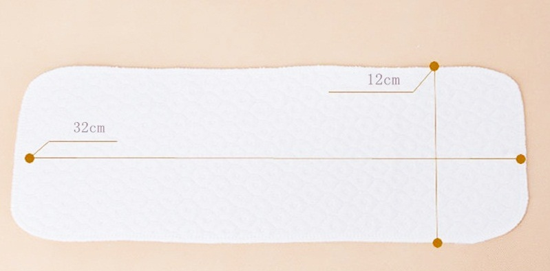 Новые Многоразовые детские подгузники, тканевые вставки для подгузников, 1 шт., 3 слоя, хлопок, моющиеся, забота о младенцах, экологичные подгузники, 10 шт