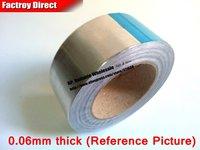 1 Roll 90mm * 40M *0.06mm Single Sided Adhesive Aluminum Foil Tape for Heat Transfer, HIgh Temperature Resist, Metalwork Repair