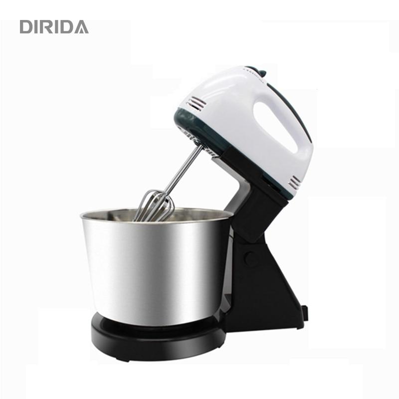 DIRIDA famille utiliser 7 vitesse électrique alimentaire mélangeur Table Stand gâteau pâte mélangeur poche oeuf batteur mélangeur cuisson fouetter crème
