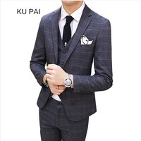 2018 Hairdresser Hair Stylist Bar Workwear Marriage Groom Dress Men S Suit Suit Vest Casual Pants
