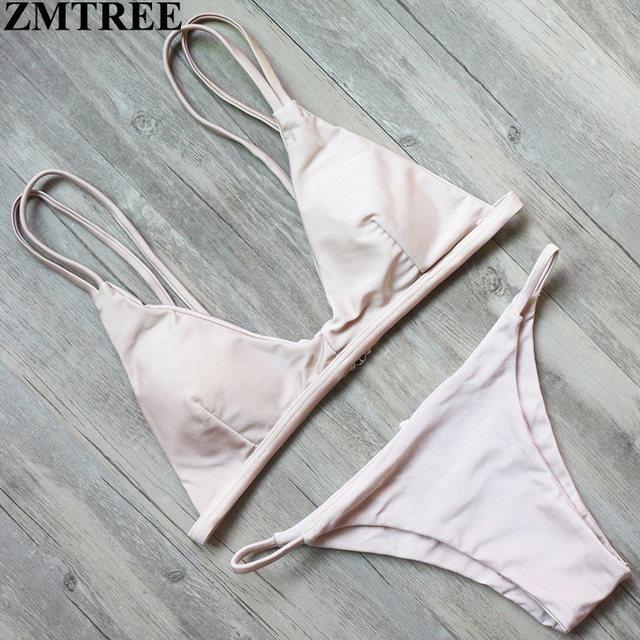 ad3a3b7948 ZMTREE Bandage Bikini Women 2017 Swimwear Low Waist Swimsuit Beach Wear Bathing  Suit Sexy Hot Bikini Set Brazilian Biquini