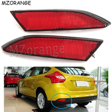 лучшая цена Rear Bumper Reflector Light For Ford Focus 3 2012 2013 2014 Sedan Hatchback Car Styling Brake LED Warning Lamp Auto Parts Newest