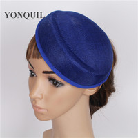 15 colors 5psc/lot 16*19CM Solid oval royal blue Airline stewardess cap imitation Sinamay Base Fascinators Hats DIY accessories