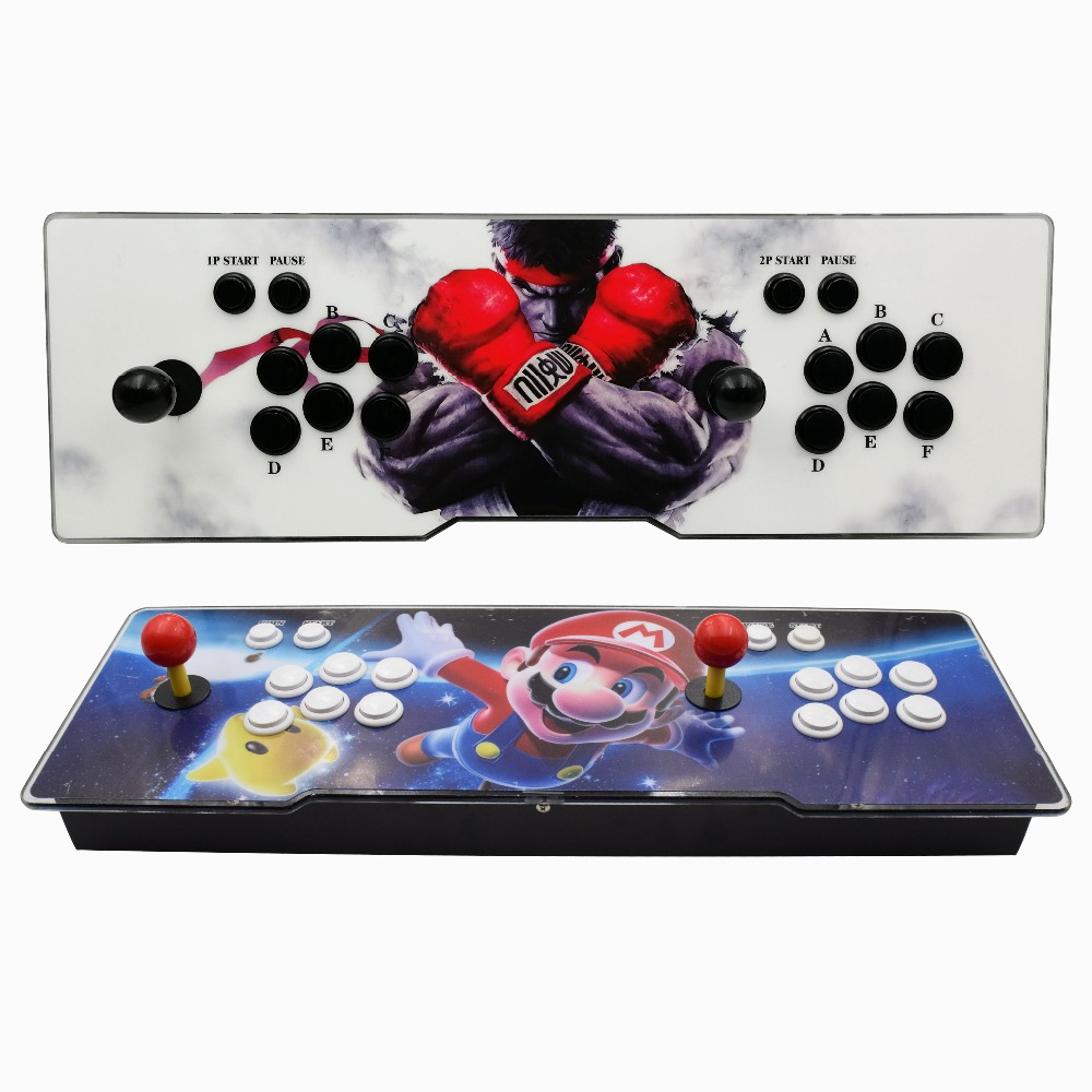 Box 6 1388 in 1 8 button Family 2 players joystick arcade console support change mainborad to update games arcade boxBox 6 1388 in 1 8 button Family 2 players joystick arcade console support change mainborad to update games arcade box