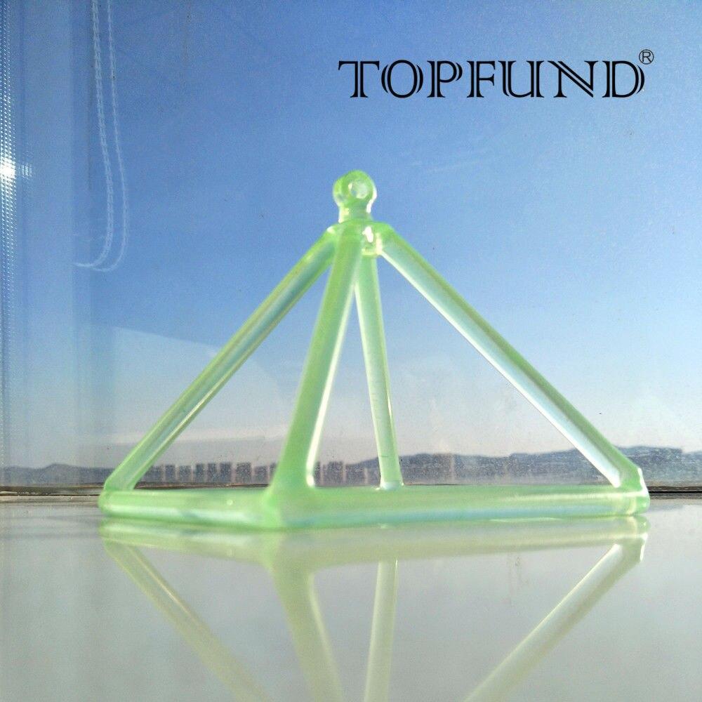 Green Quartz Crystal Singing Pyramid 6'' - Perfect Healing Musical Instrument 6pcs natural fluorite quartz crystal wand point healing