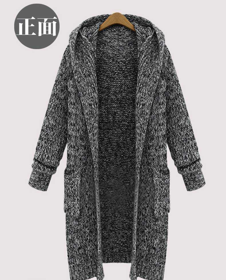 Popular Hooded Cardigan Sweater Coat Plus Size-Buy Cheap Hooded