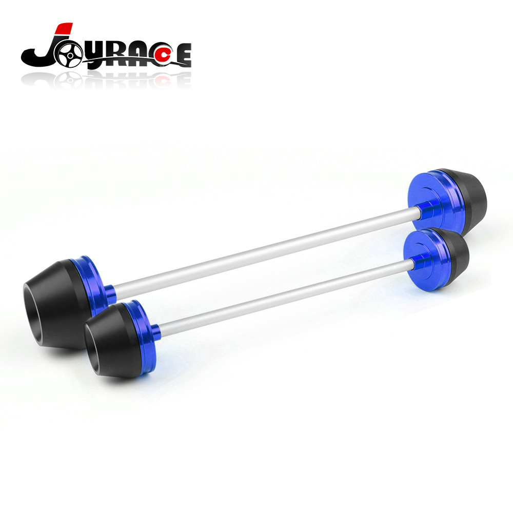 CNC Aluminum Motorcycle Motorbike Front & Rear Axle Frame Sliders for Yamaha Yzf R3 R25 d09 aluminum alloy bicycle cnc front fork washer blue white 28 6mm