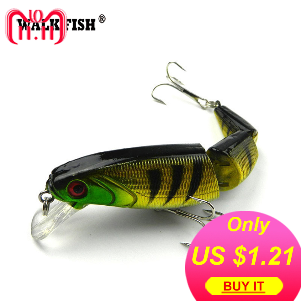 Walk Fish 1Pcs 10.5cm 15g Japan Wobbler 3-sections Fishing Lures Minnow Swimbait Crankbait Hard bait isca artificial Leurre Pech 1pcs 29g 16 5cm minnow fishing lures japan deepswim saltwater hard bait 3d eyes plastic crank bait swimbait sinking wobbler