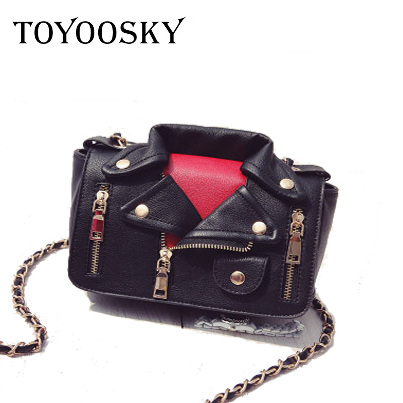 TOYOOSKY Designer Motorcycle Bags Women Clothing Shoulder Jacket Messenger Bag Women Leather Handbags Sac A Main Femme De Marque