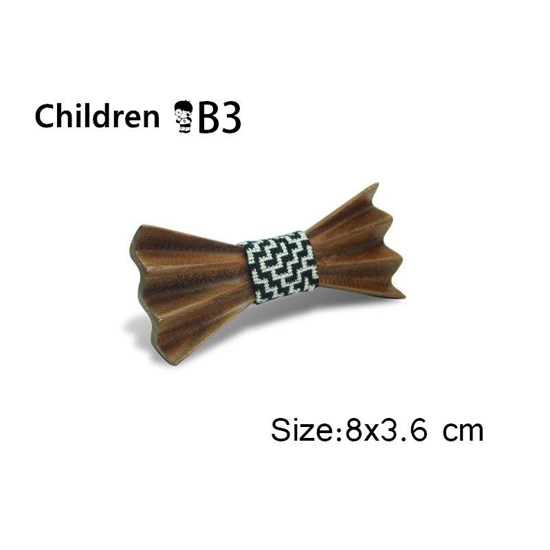 Jungen Mädchen Bowtie Kinder Holz Bogen Krawatten Krawatte Kleine Größe Schmetterling Schule Kind Student Krawatte Und Eltern-kind Bowtie