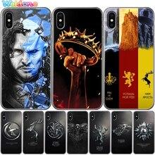 Game Thrones GOT Dragon Jon Snow Eddard Stark Phone Case Cover For iPhone XS Max XR X 7 6s 8 Plus 5S case cover etui