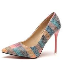 2019 Women Pumps Spring/Autumn High heels Pointed Toe Female Wedding Sh