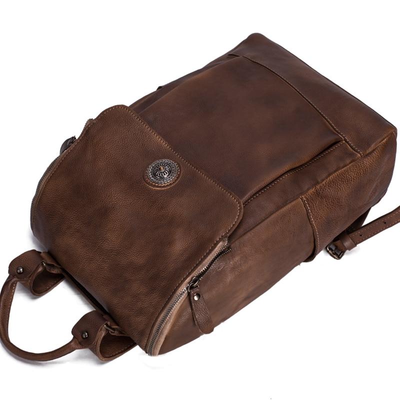 Рюкзак із шкіряного шкіряного - Рюкзаки - фото 5