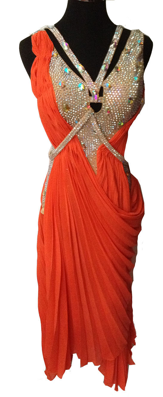 custom customize color Ballroom Salsa Samba Rumba Tango Swing Cha Cha Rhythm Latin Gown rhinestone dance competition dress