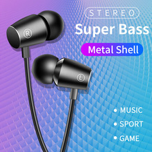 PTM Brand M9 Earphone Headphones with Microphone 3.5mm Wire Sport Headset Super Bass Stereo Metal headset for iPhone Xiaomi Sony