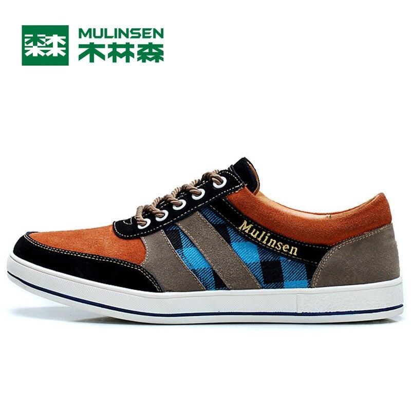 Prix pour Mulinsen hommes planche à roulettes de sport chaussures noir/vert/orange porter non-slip en plein air sport chaussures traning sneakers 250024