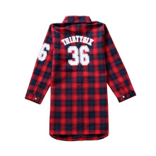 Hot Sale 2018 Girls Tops and Blouses Spring Autumn Children Plaid Shirt Cotton Kids Long Sleeve Shirt Clothes for Girls 12 Years 2018 spring girls embroidery blouses florals kids stripe shirt children kids tops long sleeve shirt cute school shirts blouses